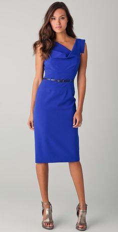 Shopbop..Black Halo...Jackie O Belted Dress...Colour=Cobalt...Gorgeous