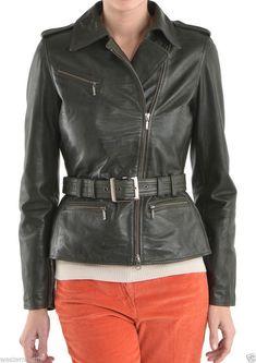 1fc9a5555f7 New Women's Genuine Real Lambskin Motorcycle Biker Slim Fit Leather Jacket  WJ261 #fashion #women