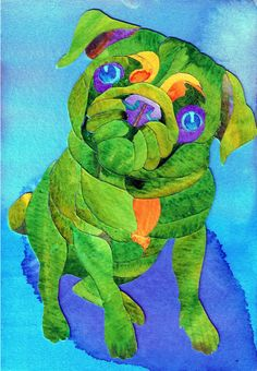 Pug art I,m going to stain glass this