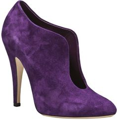 See this and similar Casadei ankle booties - Ankle bootie in iris from Casadei. This suede bootie features a pointed toe, a rounded front slit, and a heel. Heel Boots For Women, High Heel Boots, Shoe Boots, Purple Shoes, Purple Suede, Suede Booties, Ankle Booties, High Heels Stilettos, Stiletto Heels
