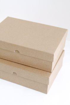 kraft storage boxes (LOVE)