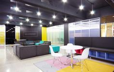 Coworking Space - NEVERMIND, Guadalajara, Mexico. Nice bright colors without overdoing it.