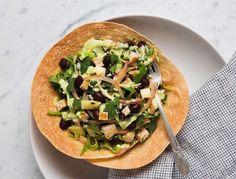 Clean eating recipes: Detox Tostada Salad with Cilantro Cashew Dressing