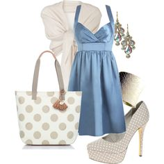 """""""Dots & Teal"""" by webmusing on Polyvore"""