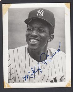 Mickey Rivers 1970's New York #Yankees Fan Club 4x5 Photo With Facsimile Auto from $6.75