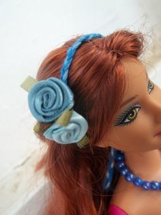 Barbie Accessory Set Jewelry Blue Beaded by BarbieBoutiqueBasics