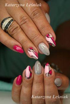 by Kasia Leśniak - Follow us on Pinterest. Find more inspiration at www.indigo-nails.com #nailart #nails #indigo #pastel #pink