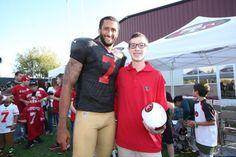 Colin Kaepernick Fan Blog - Colin Kaepernick 49ers Training with his...