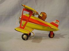 German Tin Toy Airplane