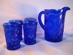 Blue, glass, glasses, pitchers