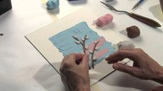 Simple Plasticine Trees Part One: Pussy Willows in Spring. Author & illustrator Barbara Reid demonstrates how to create a simple plasticine illustration. Drawing For Kids, Art For Kids, Paper Mosaic, Simple Tree, Plasticine, Art N Craft, Spring Art, Arts Ed, Illustrator Tutorials