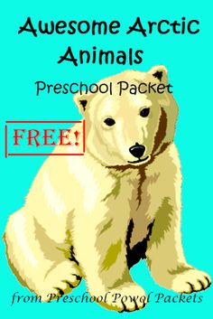 Free Awesome Arctic Animals Preschool Packet