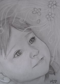 Customized portraits in pencil black and by naughtykittydesigns, $30.00  www.naughtykittydesigns.com