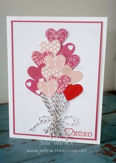 Quick Valentine Card by Julie Warnick. Sentiment from Bloomin' Love by Stampin' Up!