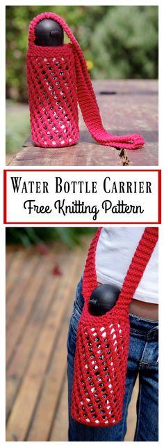 Water Bottle Carrier Free Knitting Pattern