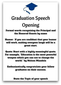 50 best Graduation speech images on Pinterest in 2018