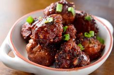 Teriyaki Turkey Meatballs Made these with a different recipe for teriyaki sauce. So so good. I used less olive oil. I baked instead of frying. Turned on boiler half way through cooking. I kept the rack low for a slow browning. Rita