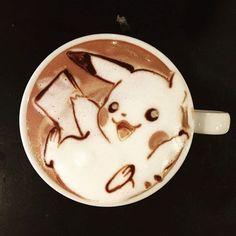 World's Best Latte Art Designs by Creative Artists (Images) pokemon latte art Coffee Latte Art, I Love Coffee, My Coffee, Coffee Drinks, Coffee Shop, Coffee Mugs, Coffee Humor, Starbucks Coffee, Morning Coffee
