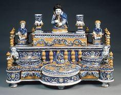 18th century French Ceramic Inkstand at the Metropolitan Museum of Art, New York