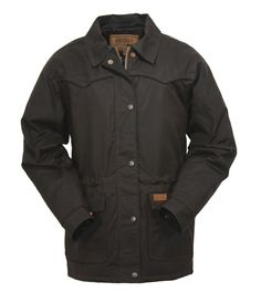 Women's Waterproof Oilskin Jacket in Bronze - perfect for a rainy Spring!