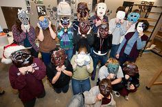 2009 Ceramic Masks Final Project by nmhschool, via Flickr