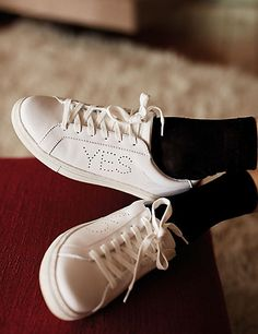 "Marks&Spencer Low-Top Flights, limited collaboration""M &S×Alexa Chung YES NO Alexa Chung, Adidas Stan Smith, Luxury Handbags, Shoe Game, Trainers, Adidas Sneakers, Heels, Leather, How To Wear"