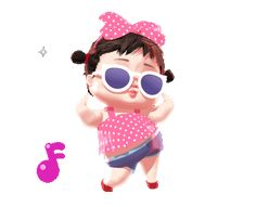 LINE Creators' Stickers - Noina cute girl animated Example with GIF Animation Cute Love Pictures, Cute Cartoon Pictures, Cute Cartoon Girl, Cute Love Cartoons, Animated Emoticons, Funny Emoticons, Love You Gif, Cute Love Gif, Bisous Gif