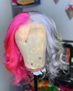 Baddie Hairstyles, Black Girls Hairstyles, Cute Hairstyles, Lace Front Wigs, Lace Wigs, Green Hair Streaks, Barbie Hair, Wig Styles, Human Hair Wigs
