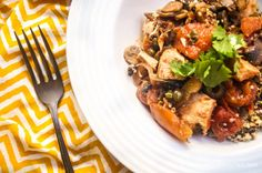 Sunday Slow Cooker: Chicken Cacciatore with Mushrooms - Slender Kitchen