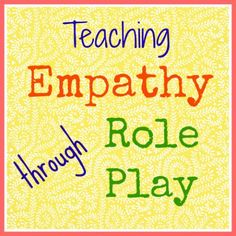 """""""Teaching Empathy through Role Play"""" would help work on social skills like showing empathy or consideration for others. Coping Skills, Social Skills, Life Skills, Teaching Empathy, Teaching Kindness, Emotions Cards, School Social Work, Therapy Activities, Play Therapy"""