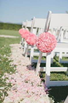 Outside Wedding Ceremonies, Wedding Ceremony Chairs, Wedding Chair Decorations, Spring Wedding Colors, Summer Wedding Themes, Wedding Ideas, Outdoor Wedding Foods, Wedding Stuff, Wedding Photos