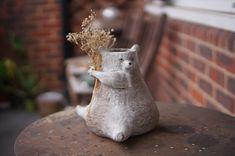 Fake Flowers, Dried Flowers, Zoo Keeper, Stoneware, Clay, Organic, Vase, Ceramics, Medium