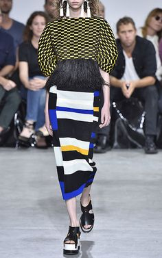 The Designers: Jack McCollough and Lazaro Hernandez are considered the cool, forward-thinking duo leading the fashion charge in New York.  <br><br>  This Season It's About: A return to house codes of color, craft and technology. Stripes, feathers and colored dresses made from woven leather registered a tribal feel, while cut out knits and tees tied around minks (all paired with heavy flatform sandals) channeled the mood of the street.