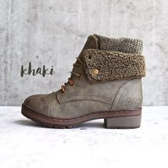 Coolway - Bring/Betta Leather Knit Sweater Cuff Ankle Boots in More Colors - - coolway – bring leather knit sweater cuff ankle boots (more colors) Source by Ankle Boots, Lace Up Boots, Knee High Boots, Over The Knee Boots, Shoe Boots, Women's Shoes, High Shoes, Shoes Style, Leather Fashion
