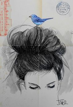 """Saatchi Art Artist Loui Jover; Drawing, """"suddenly you know...."""""""
