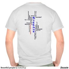 """Kroatie: """"Beautiful people"""" tshirt- all the reasons to love Croatia, not in the least the beautiful people and there hospitality,  """"Beautiful people"""" """"Blue sea"""", waterfalls, scampi, wine, """"blue sky"""", rivers, """"mixed grill"""", diving, parasailing, surfing, sun, hiking, lakes, mountains, lakes, sailing, paragliding,  snorkeling, canyoning Europe, Croatia, ,Adriatic , Mediterranean, Dalmatian, Dalmatia ,, Dalmatië, vacation, travelling, holiday, holidays, holiday, voyage, vakantie, reizen, reis,"""