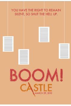 Once again Castle steals the show! Castle Series, Castle Tv Shows, Best Tv Shows, Favorite Tv Shows, My Favorite Things, Tv Show Quotes, Book Quotes, Richard Castle, Castle Beckett