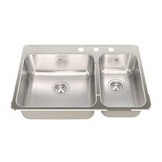 american standard offset double bowl sink kit costco atlantis pro series stainless steel bowl sink 380