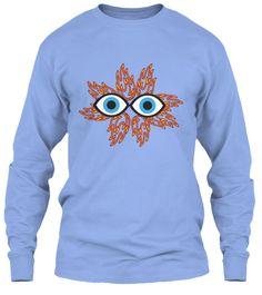 Fiery Light Blue T-Shirt Front