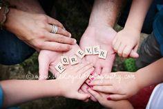 f.o.r.e.v.e.r family photography, Scrabble Tiles, Castle Rock, CO, Denver  Ule Logue Photography  www.UleLoguePhotography.com
