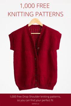 Ladies Cardigan Knitting Patterns, Knit Cardigan Pattern, Lace Knitting Patterns, Knitting Stiches, Easy Knitting, Loom Knitting, Knitting Designs, All Free Knitting, Knit Sweaters