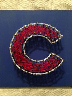Chicago Cubs string art
