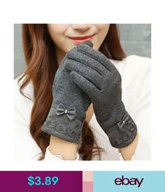31246e2d09879 Gloves, Mittens Women Touch Screen Gloves Pu Leather Lace Bow Soft Wool  Warm Winter Mittens Gift #ebay #Fashion