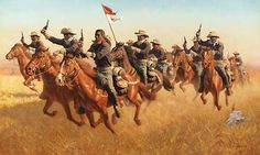 Buffalo Soldiers Advance as Skirmishers Charge Frank McCarthy New