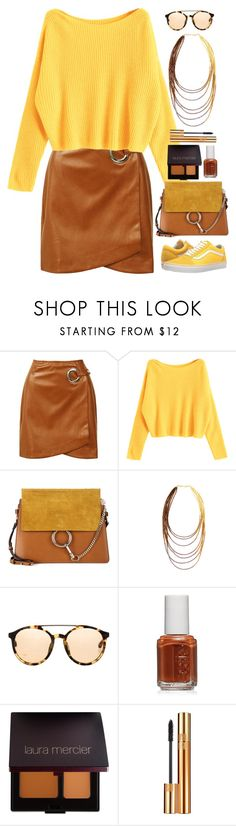 """Yellow and Brown"" by gicreazioni ❤ liked on Polyvore featuring Sans Souci, Vans, Chloé, 3.1 Phillip Lim, Essie, Laura Mercier and Yves Saint Laurent"