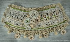 Crochet FreeForm Bracelet manchette. Crochet par KaterinaDimitrova