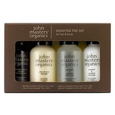 Buy john masters organics Essential Trial Set for Hair & Body with free shipping on orders over $35, gifts-with-purchase, expert advice - plus earn 5% back | Beauty.com