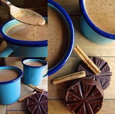 Champurrado is a Mexican atole made with chocolate spices and masa de maíz or corn flour. Its a thick version of a hot chocolate but with a unique flavor that can only be attained by usin Atole Recipe, Mexican Champurrado Recipe, How To Make Champurrado, Mexican Drinks, Mexican Dishes, Mexican Food Recipes, Mexican Desserts, Mexican Cooking, Kitchens