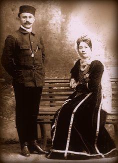 Tatars. Crimea Tatars. Дворянин Саин-бей Яшлавский с супругой Хадидже-ханум