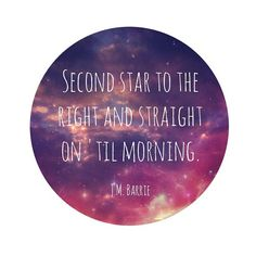 Peter Pan Galaxy Print - Nursery Art - Star and Sky - Literature - Book - Quote - Morning